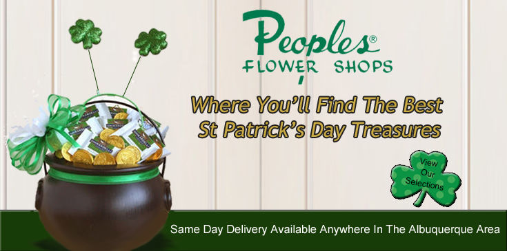 St Patrick's Day Flowers and Plants, Albuquerque St Patrick's Day Flowers, Peoples Flower Shops Offers Same Day Delivery Anywhere In The Albuquerque Area.
