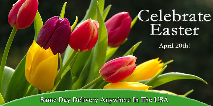 Easter Flowers, Easter Baskets, Easter Gifts, Peoples Flowers offers same day delivery of Easter Flowers and Gifts.